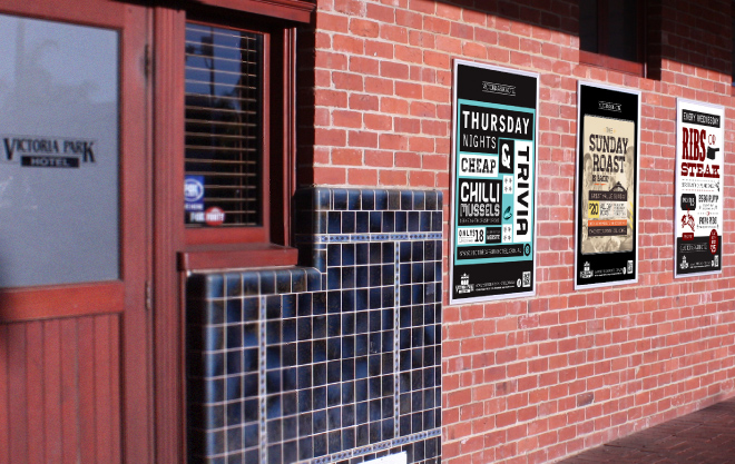 Victorial Park Perth Graphic Design Wall Posters